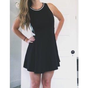 VS PINK Black & white skater dress